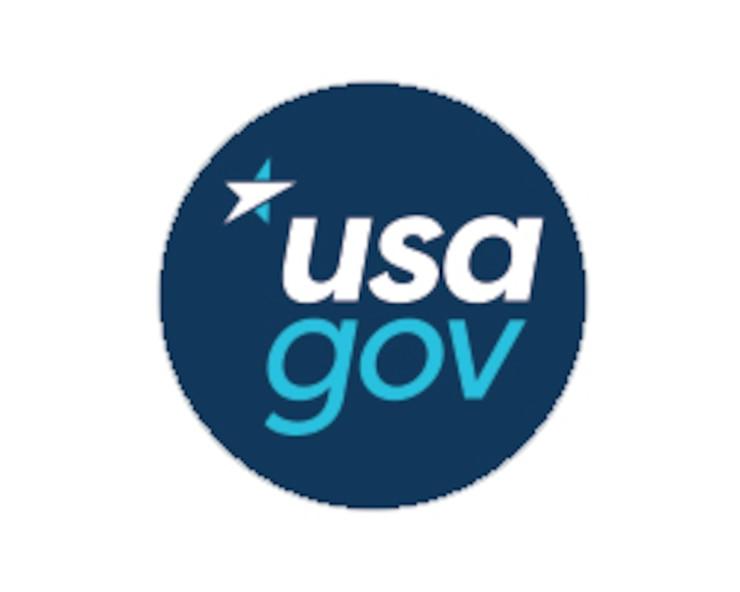 USA.gov logo.