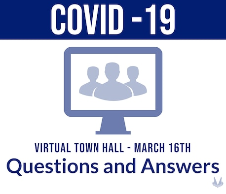 Graphic for Ramstein Air Base's COVID-19 virtual town hall.