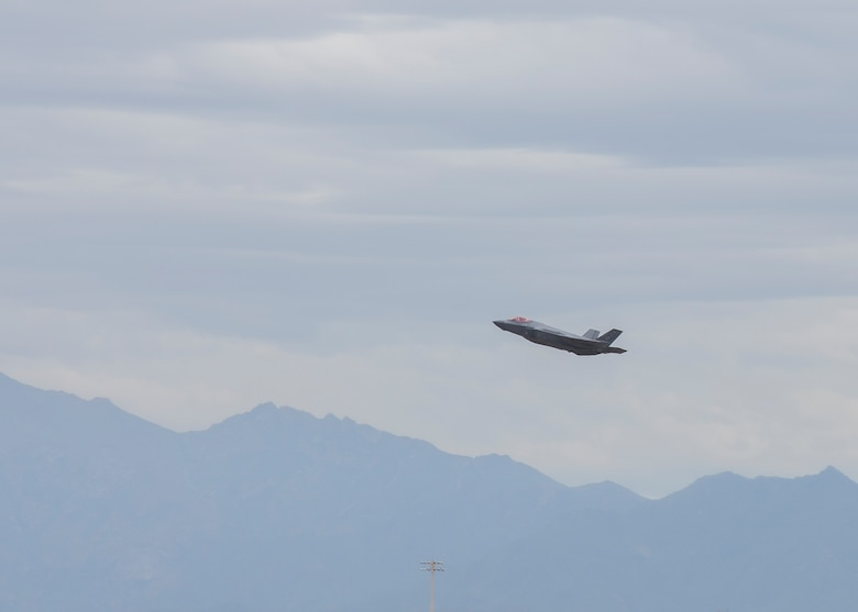 An F-35A Lightning II, assigned to the 62nd Fighter Squadron, takes off March 10, 2020 at Luke Air Force Base, Ariz.