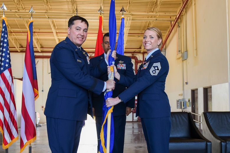 Command Chief Master Sgt. Rachel Landegent assumption of responsibility