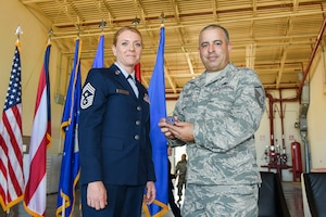 Command Chief Master Sgt. Rachel Landegent assumption of responsibility