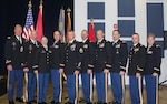 Courtesy Photo: CW5 Christopher Rau (CCWO Oklahoma) and CW5 Patrick J. Muenks (CCWO Missouri) stand with the six warrant officer candidates who recently graduated from the program at a ceremony held at the Warrant Officer Candidate School in Fort McClellan, Ala. (l to r) CW5 Christopher Rau, Benjamin L. Gubitz (Oklahoma National Guard), WO1 Lena J. Conway (Oklahoma National Guard), WO1 Nicole R. Reynolds (Missouri National Guard), Jonathan R. Fowler (Missouri National Guard), WO1 Gary A. Lewis (Missouri National Guard), WO1 Craig E. Wadlow, CW5 Patrick Muenks, CW4 Terry M. Zlateff (WOCS TAC Officer), and CW3 Diana M. Eberharter (WOCS Course Mgr/Instructor).
