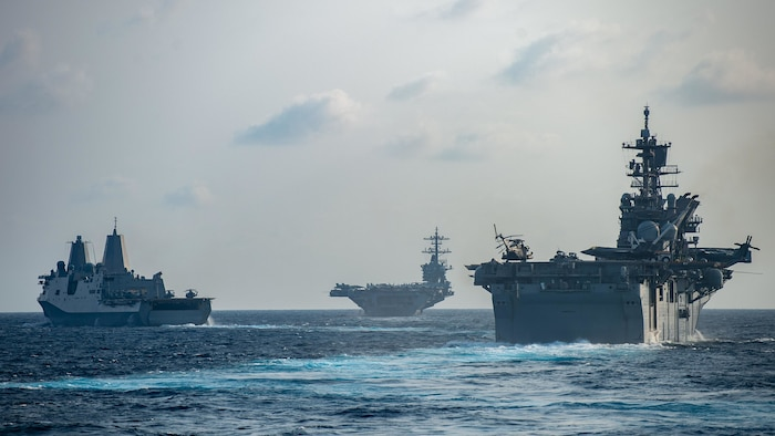 Theodore Roosevelt, America strike groups conduct expeditionary strike force training