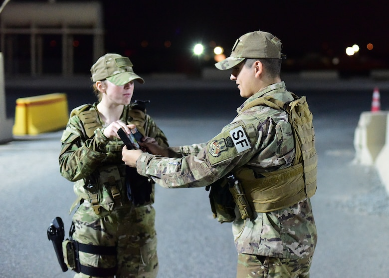Airman demonstrates an identification check