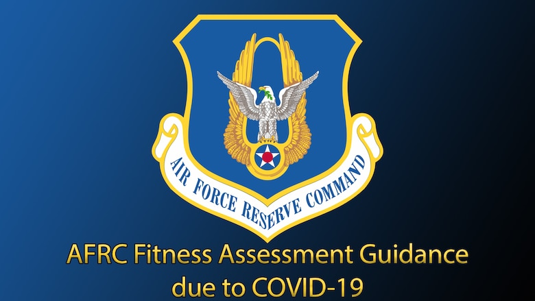 Graphic with AFRC shield and text which reads AFRC Fitness Assessment Guidance due to COVID-19