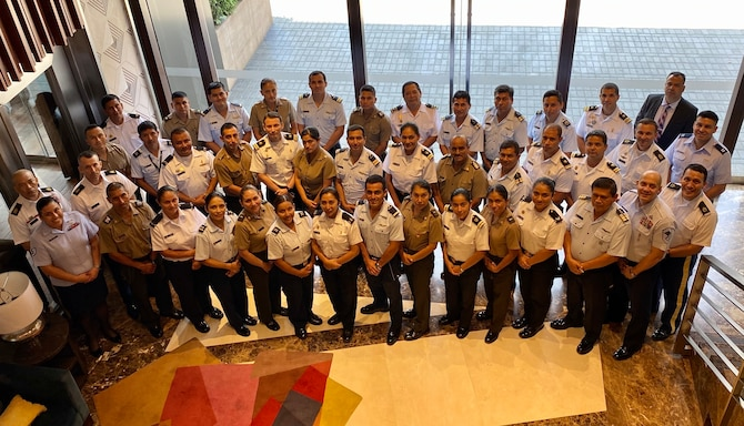 The Inter-American Air Force's Academy hosted this second-ever Officer and Noncommissioned Officer Professional Development Seminar and Subject Matter Expert Exchange with members of the Peruvian Army, Air Force, and Navy, in Lima, Peru, March 9-12. 