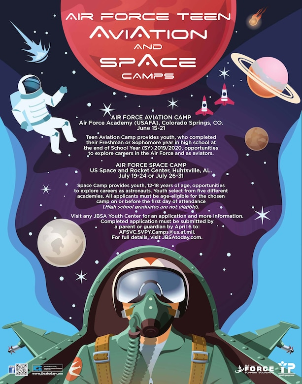 Flyer for Air Force Teen Aviation and Space Camp