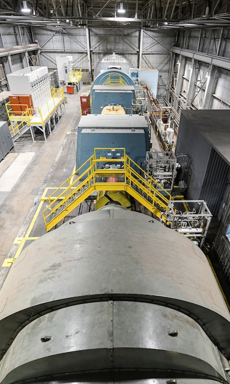 Motors make up the Main Drive of the Arnold Engineering Development Complex Propulsion Wind Tunnel Facility, shown here Feb. 7, 2020, at Arnold Air Force Base, Tenn. (U.S. Air Force photo by Jill Pickett)