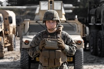 U.S. Marine Corps Officer 1st Lt. Briana Barca, executive officer of Alpha Company, 2nd Transportation Support Battalion, Combat Logistics Regiment 2 poses for a photo on Camp Lejeune, N.C., March, 18, 2020. 2nd MLG is honoring the many women who play an essential part to the success of the mission during March for National Women's History Month. (U.S. Marine Corps photo by Lance Cpl. Zachary Zephir)