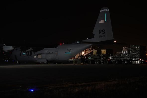 Aircraft at night.