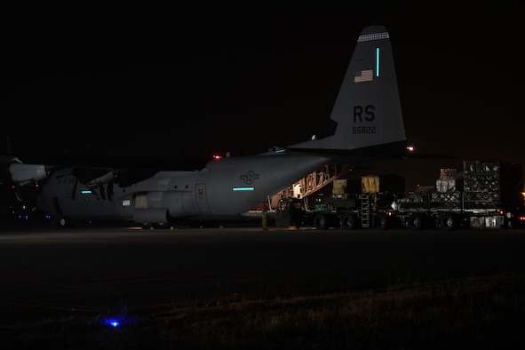 Aircraft at night.