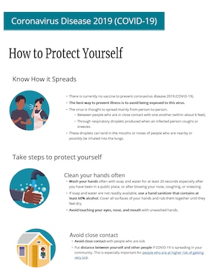 The CDC has provided important information on how to protect yourself and your family during COVID-19.