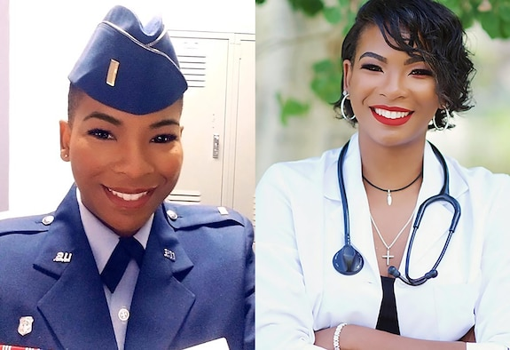 Images of 1st Lt. Sparkle Mccuiston, 152nd Medical Group, Nevada Air National Guard.