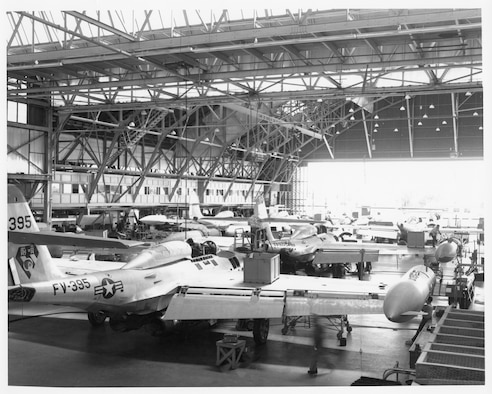 F-84 production Line at Hill Air Force Base, Utah in the 1960s.