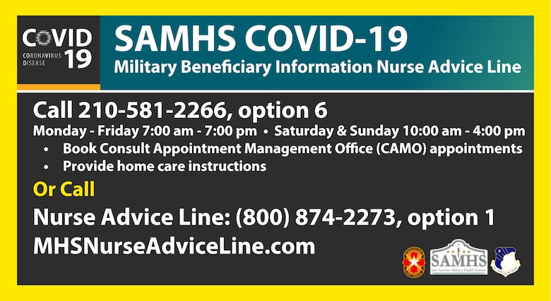 SAMHS COVID-19 Advice Line