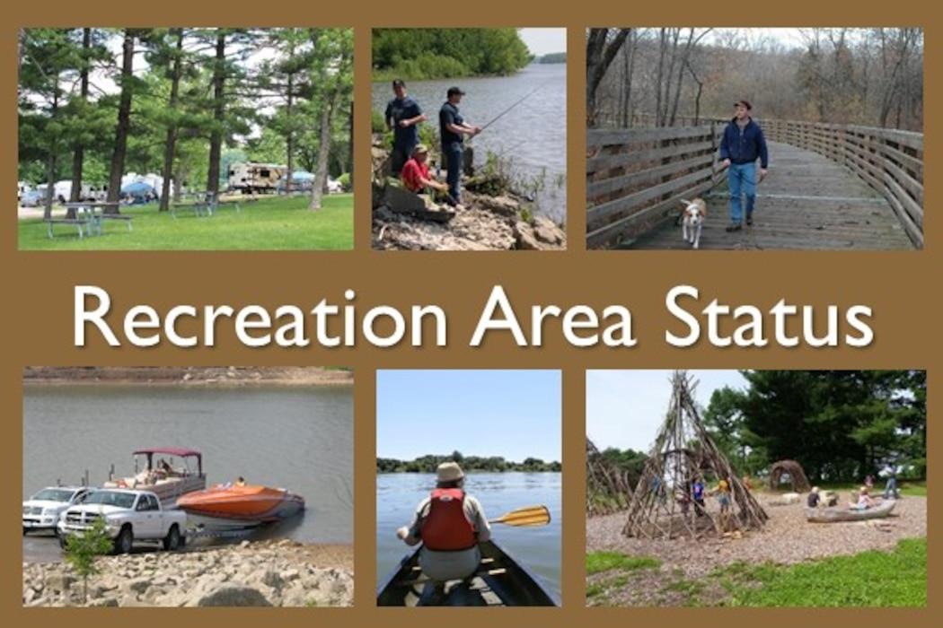 Click the links below to view the open/close status of recreation areas at each project in the Rock Island District.