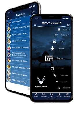"The Office of Special Investigations is one of more than 100 organization ""Favorites"" on the enterprise-wide Air Force Connect mobile app, designed to provide streamlined access to timely and relevant information users need for their lives and careers. (Air Force Connect photo)"