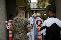 Medical personnel aboard Marine Corps Base Hawaii have been proactive with preparing and applying preventative measures due to COVID-19, Kaneohe Bay Branch Health Clinic, MCBH, March 23, 2020. (U.S. Marine Corps photo by Lance Cpl. Samantha Sanchez)