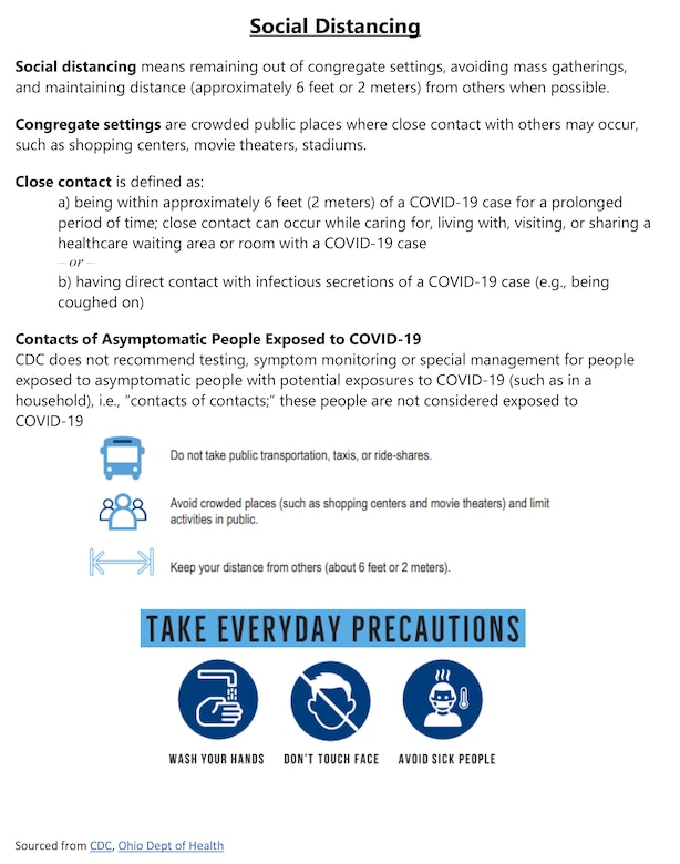 The prevention of COVID-19 infection at work and home starts with simple actions taken by all individuals