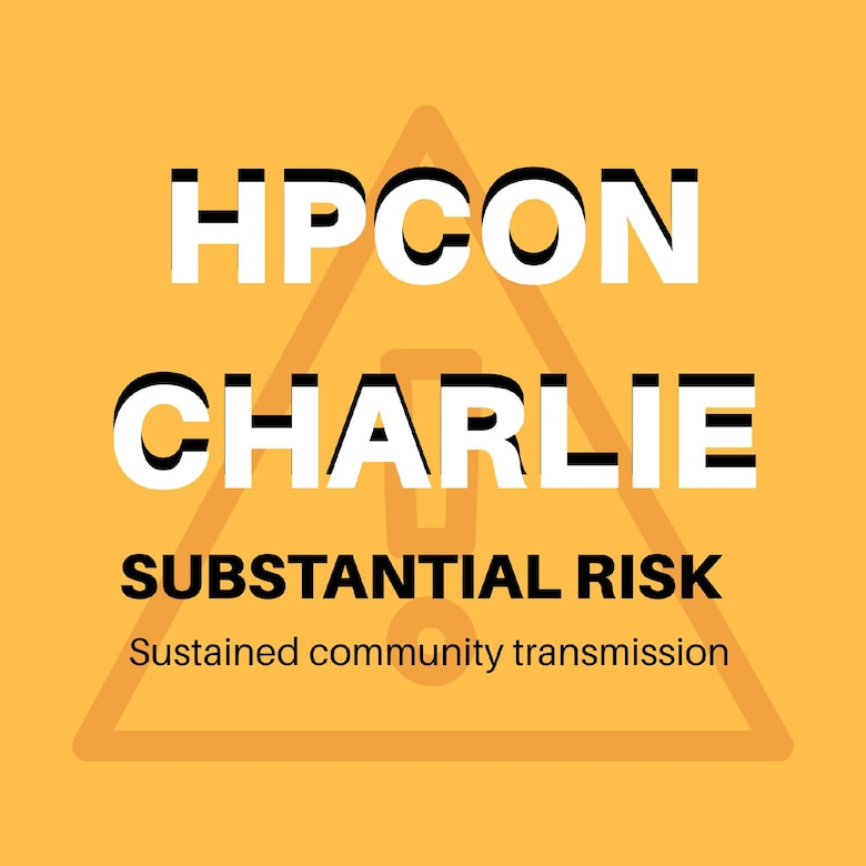Peterson Air Force Base raises the HPCON level to Charlie.