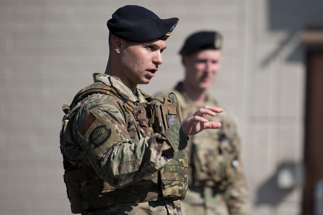 A Security Forces Airman speaks.