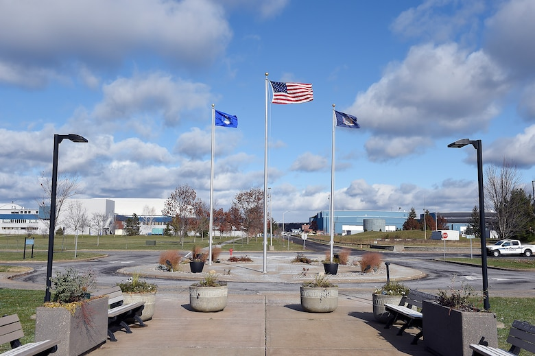 The flag display area at the Air Force Research Laboratory Information Directorate, Rome, N.Y. (Courtesy photo)