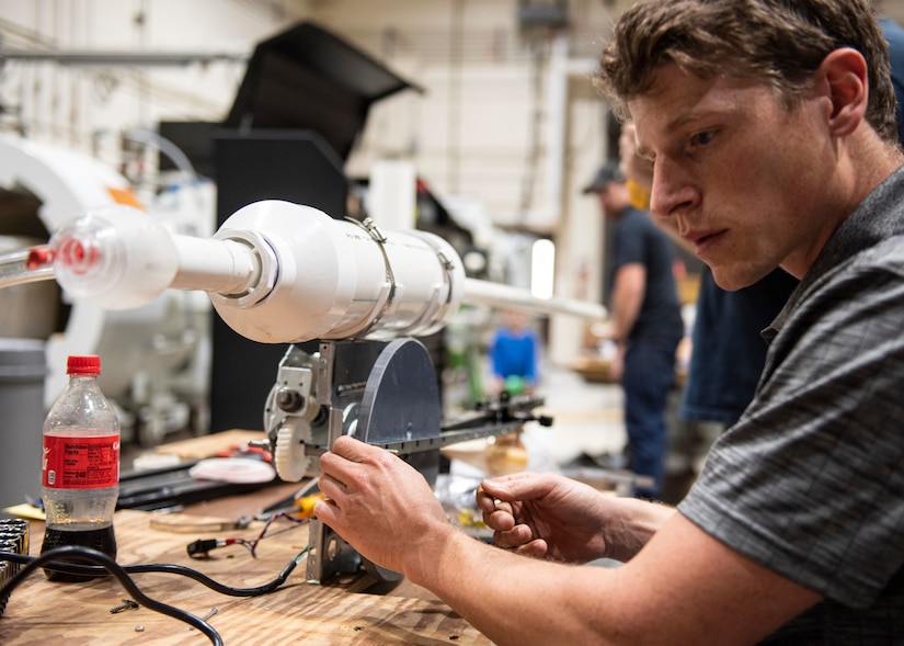 Dr. Andrew Schicho, NSWC PCD mechanical engineer, led one of the five teams by building a ventilator prototype in support of the Department of Defense (DoD) Hack-a-Vent Innovation Challenge.