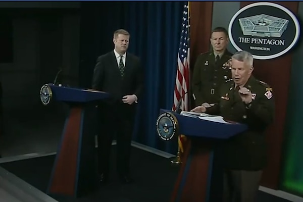 Hear remarks by Secretary of the Army Ryan McCarthy and Lt. Gen. Todd Semonite, USACE Commanding General and 54th U.S. Army Chief of Engineers, specific to support by the U.S. Army Corps of Engineers to the national Coronavirus response. These clips are excerpts from today's press conference in the Pentagon. The full event, including remarks by Secretary of the Army Ryan McCarthy; Chief of Staff of the Army Gen. James McConville; Army Corps of Engineers Commander Lt. Gen. Todd Semonite; and Army Surgeon General Lt. Gen. Scott Dingle can also be viewed here: https://facebook.com/DeptofDefense/videos/2643688735757461/
