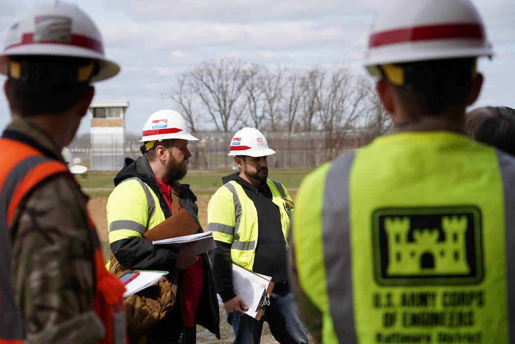 Baltimore District Alternate Care Site Task Force Members perform a site inspection at the Brockbridge Correctional Facility in Jessup, Maryland, March 24, 2020. This is part of a larger FEMA mission assignment to convert large spaces to serve as alternate care sites in response to COVID-19.