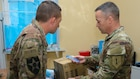 1st Infantry Division Forward Surgeon's Office delivers medical supplies