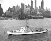 USCGC Westwind in New York harbor- 29 September 1954