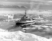 USCGC Westwind in the Arctic, 1965.