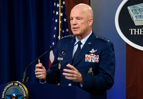 U.S. Space Force Chief of Space Operations Gen. John W. Raymond discusses U.S. Space Force and U.S. Space Command COVID-19 responses