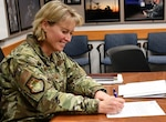 Brig. Gen. DeAnna Burt, Director of Operations and Communications, United States Space Force, formally declared initial operational capability and operational acceptance of the Space Fence radar system, located on Kwajalein Island in the Republic of the Marshall Islands, March 27, 2020.