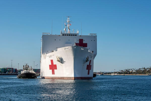 USNS Mercy Arrives in Los Angeles Amid COVID-19 Restrictions Skill Bridge Internships Continue