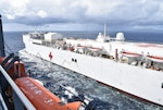 USNS Mercy fuels at sea