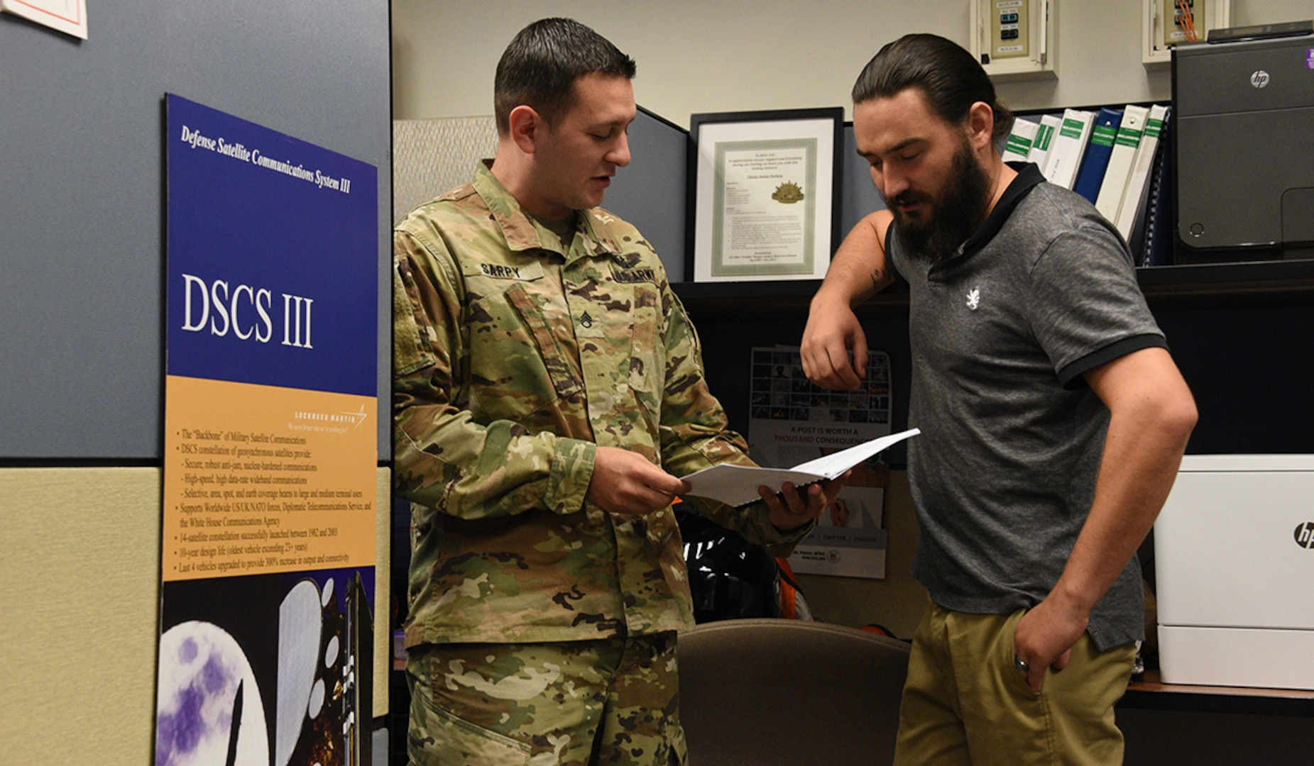 The Regional Satellite Communications Support Center-Pacific in Hawaii comprises Space Soldiers and civilians who provide 24/7/365 satellite communications planning, engineering and satellite payload management for all Department of Defense satellite communications systems. Last week, the RSSC-PAC responded to an urgent request from the U.S. Navy hospital ship USNS Mercy and U.S. Indo-Pacific Command for additional bandwidth to enable telemedicine and other online capabilities aboard the ship. (U.S. Army photo by Carrie David Campbell)
