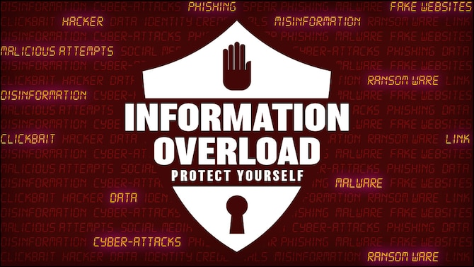 Information overload graphic which accompanies the article