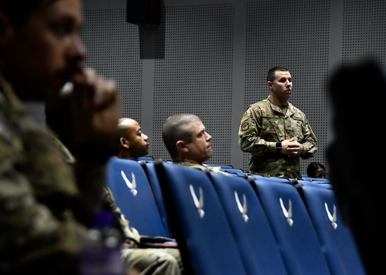 Airmen participate in group discussion.