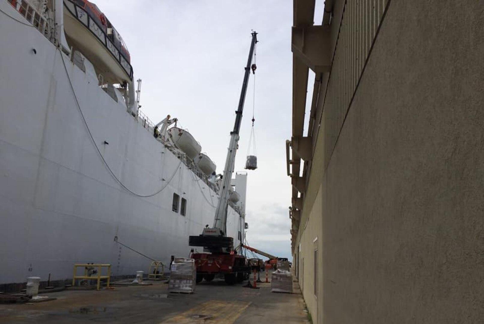 DLA Distribution Norfolk provides mission support to USNS Comfort bound for NYC