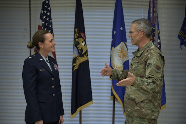 Lt. Col. Janice Davis assumes command of the 110th Medical Group