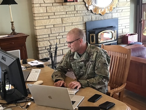 336th Expeditionary Military Intelligence Brigade conducts virtual battle assembly due to COVID-19 concerns