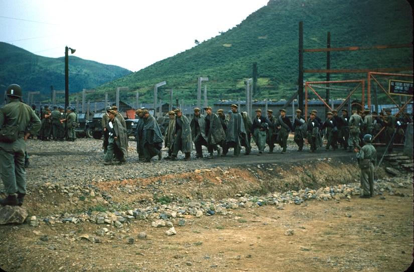 Korean prisoners of war, Koje (Geoje) Island, Korea, 1953 (U.S. Army/Donald K. Grovom)