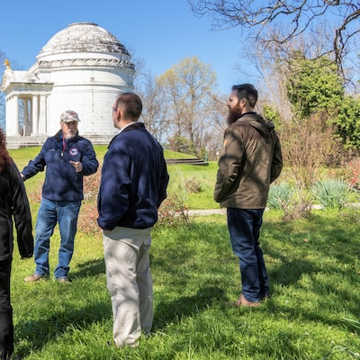 St. Paul District Biologist Aaron McFarlane, far right, toured the Vicksburg National Military Park with ERDC Historian Terry Winschel, left, and other district selectees during kickoff week activities for the U.S. Army Engineer Research and Development Center University. He will work with Environmental Laboratory mentors during his six-month session. In addition to the park, McFarlane toured the four laboratories on ERDC's 700-acre campus during the first week of March.
