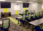Classrooms at DCAI are bright and colorful with a full suite of technology to support learning including WIFI and LED screens.