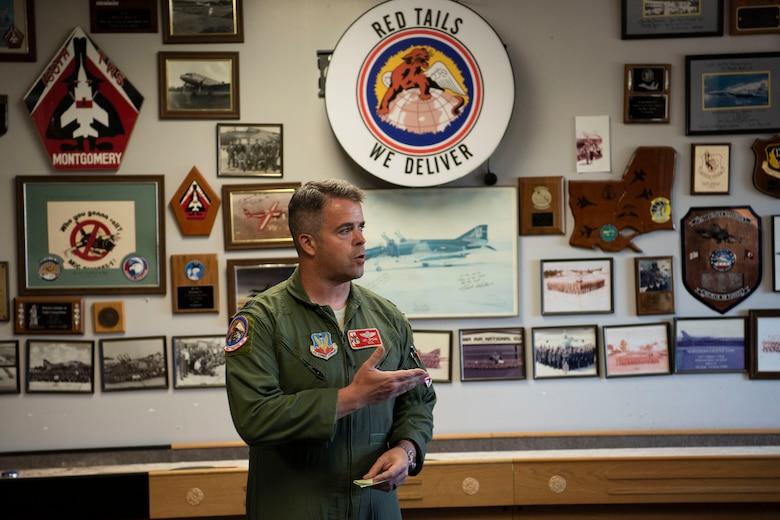 Lt Col Jay Spohn speaks