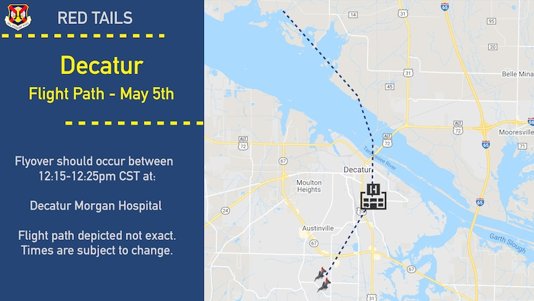Decatur Flight path graphic