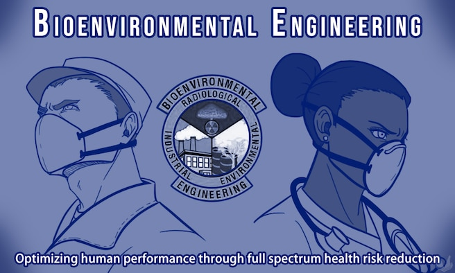 This illustration compliments an article written about the 86th Aerospace Medicine Squadron's bioenvironmental engineering flight. (U.S. Air Force illustration by Airman 1st Class Jennifer Gonzales)
