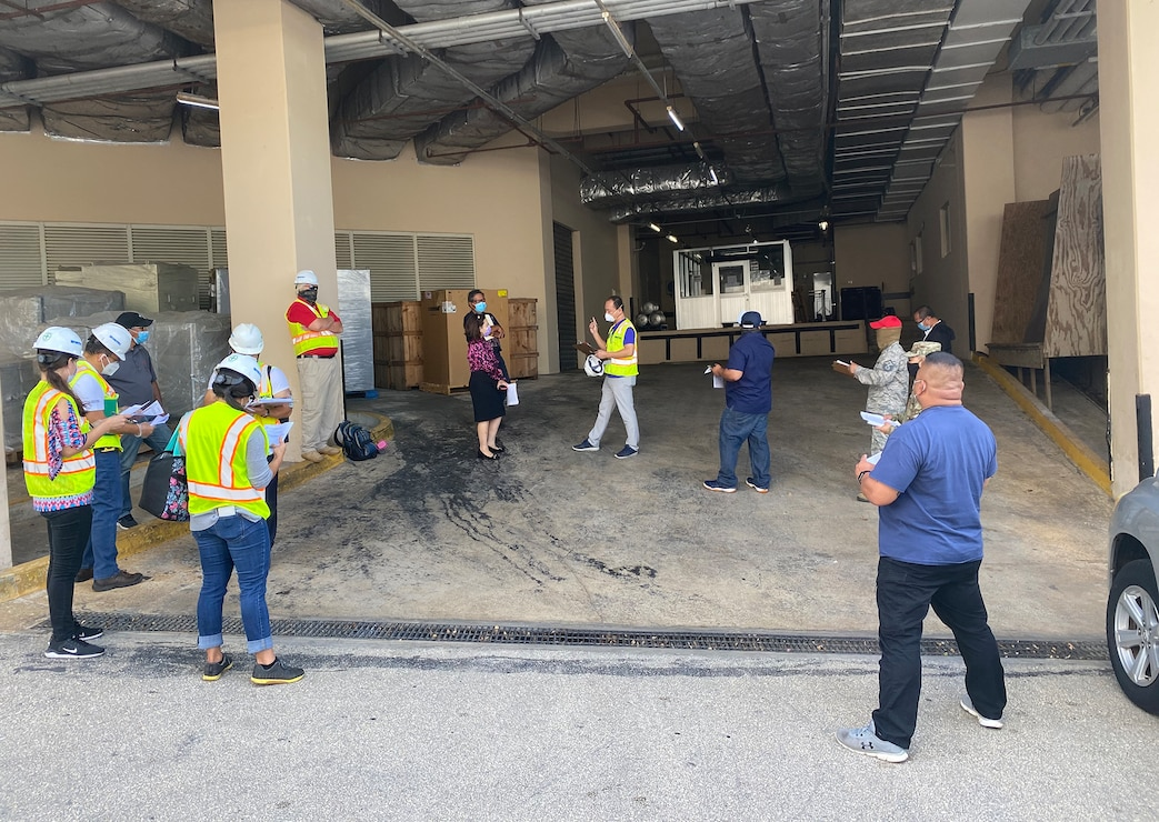 Representatives from the U.S. Army Corps of Engineers (USACE), Honolulu District, the government of Guam, FEMA, NAVFAC Marianas, U.S. Department Health and Human Services, 18th MEDCOM, Dept. of Homeland Security, Guam Air National Guard, and Guam Fire Dept. conducted a site assessment of the Lotte Hotel Guam in Tumon April 30 for potential use as an Alternate Care Facility.
