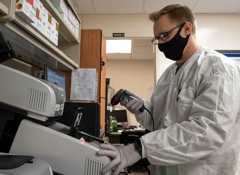 Lab testing COVID-19 samples